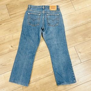Vintage High Waisted Cropped Levis